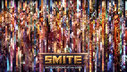 SMITE - All Gods Lines Wallpaper (with Chiron)