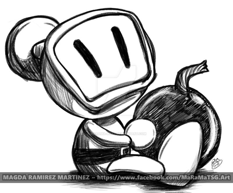 commission a cute little bomberman by maramaartz on