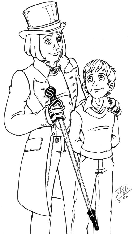 Willie wonka free coloring pages for Charlie and the chocolate factory coloring pages