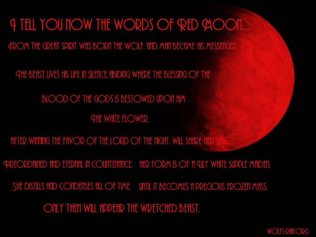 Words Of RED MOON by Toboe