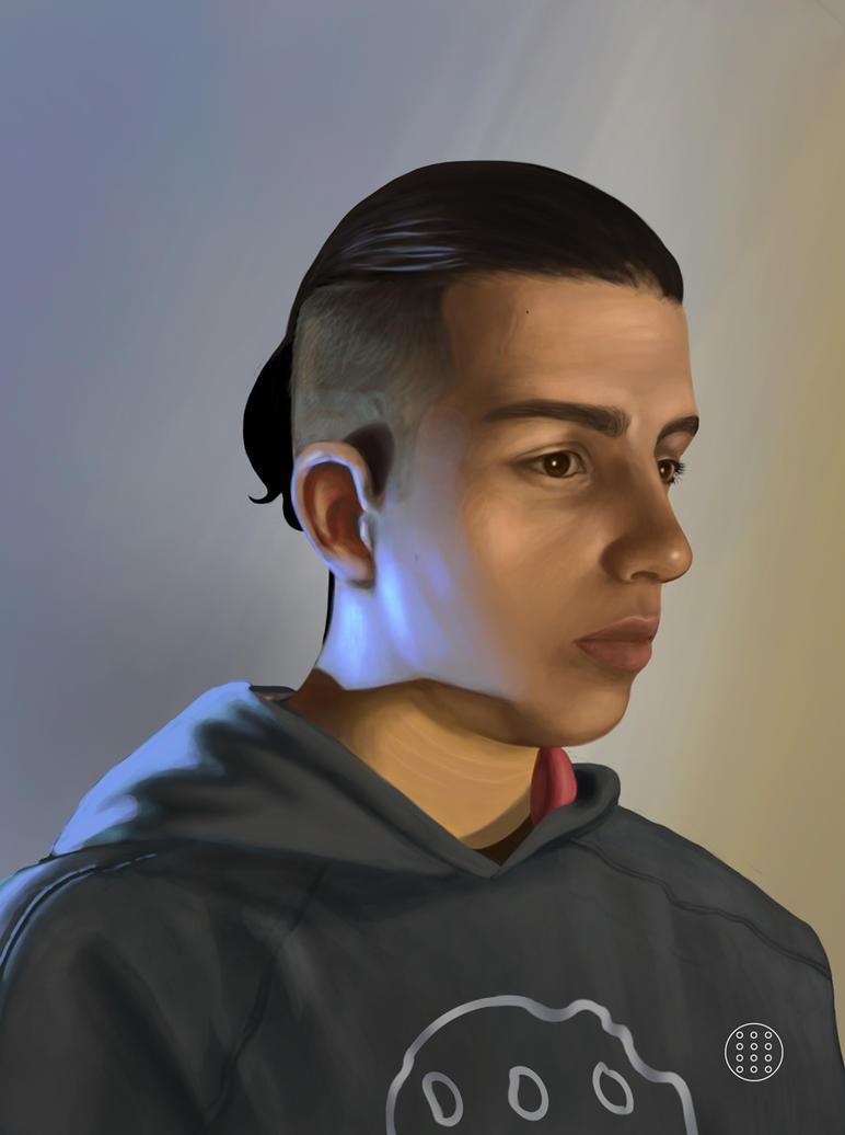 Auto retrato by kaozchaotikoartist