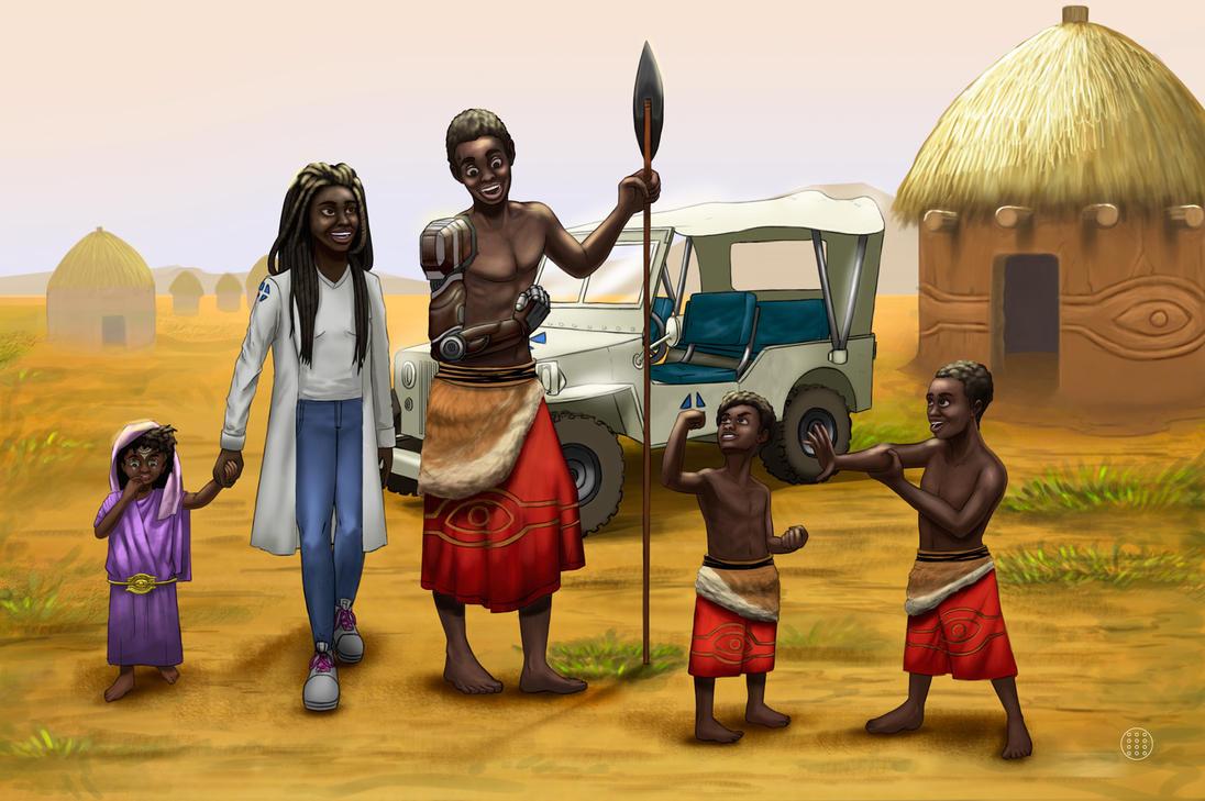 Garoto da tribo - estudo by kaozchaotikoartist
