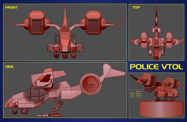 Police Vtol 04 by ZICIONEL