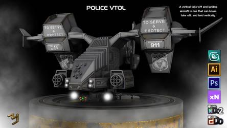 Police Vtol 01 by ZICIONEL