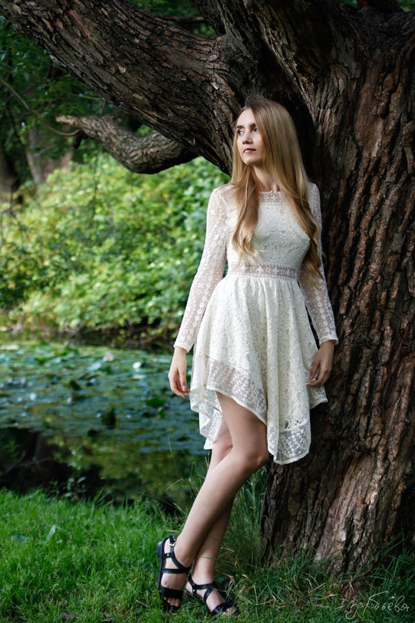 Alice in wood 2 by silverwing-sparrow