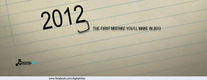 First Mistake in 2013