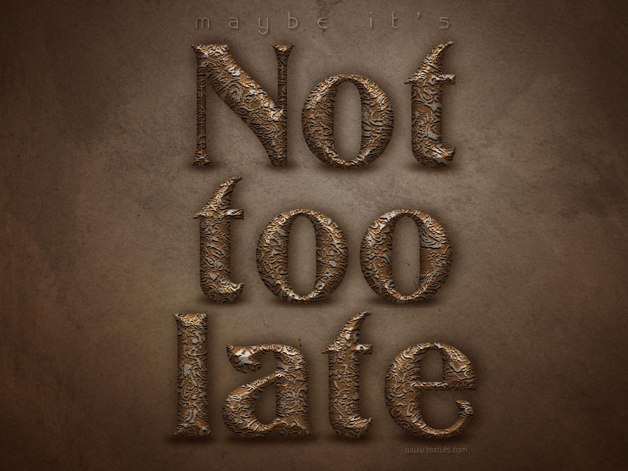 Not Too Late by ~Textuts