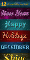 Winter Holidays Layer Styles Pack - Free Download by Textuts