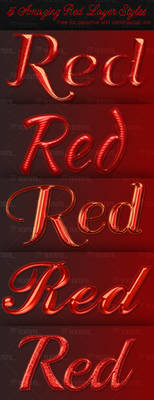 5 Amazing Red Layer Styles - Free Download