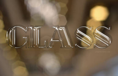 Free Glass Text Effect / Layer Style
