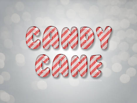 Free Glossy Candy Cane Text Effect