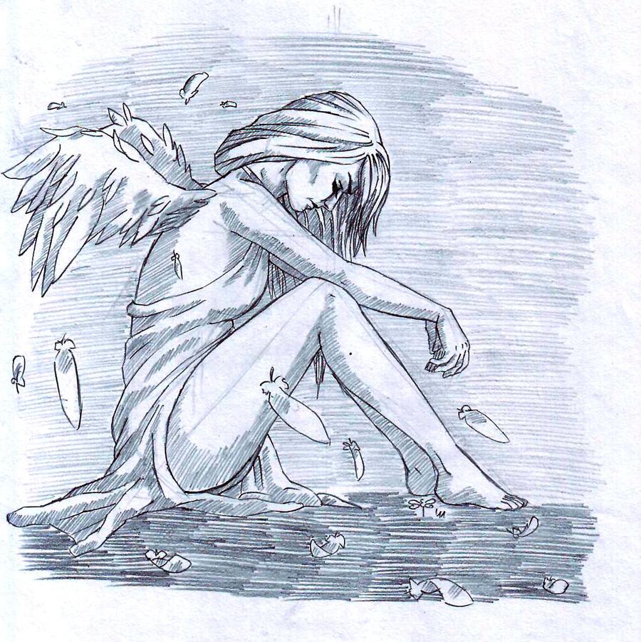 I'm so lonely, broken angel... by szitakoto on DeviantArt