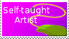 Self-taught artist stamp by Viktoria-Lyn