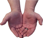 Male Hand Stock Pose 3-Cupped Hands