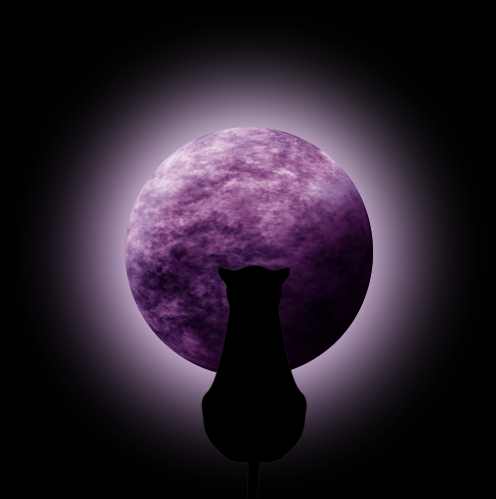 Stock Purple Moon W Glow And Cat By Viktoria Lyn On Deviantart