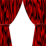 Red Satin Curtains Pre-made background