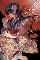 RENDER #18 - Girl with kimono