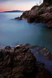 Stone on the rocks
