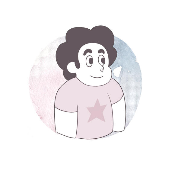 first sketch of steven bg is watercolour texture