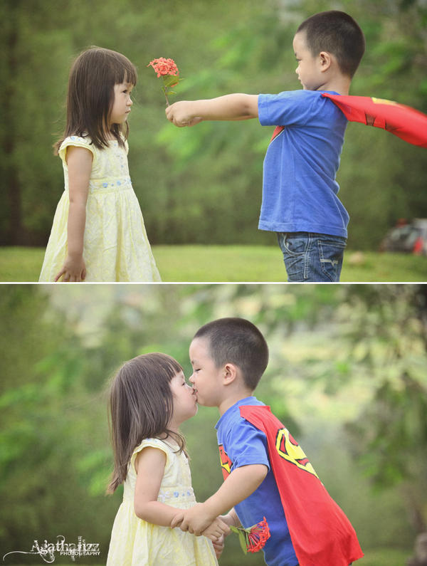 Superboy and His Girl by Agathalizz