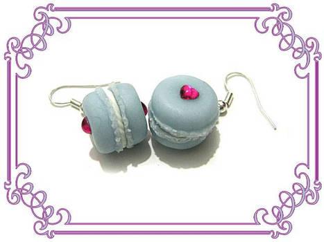 Blueberry Macaron Earrings
