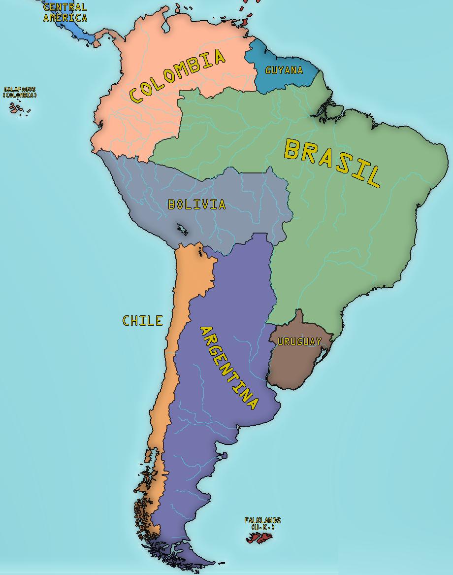 Alternate South America  By LSJebus On DeviantArt - Map of america 1860