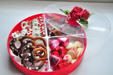 Chocolate Pretzel Valentine's Day Platter