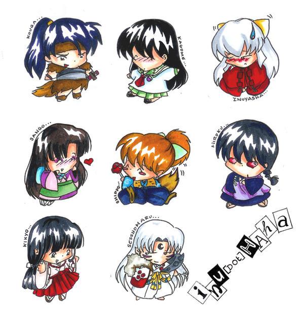 Inuyasha Chibi Key Designs By KimKTN