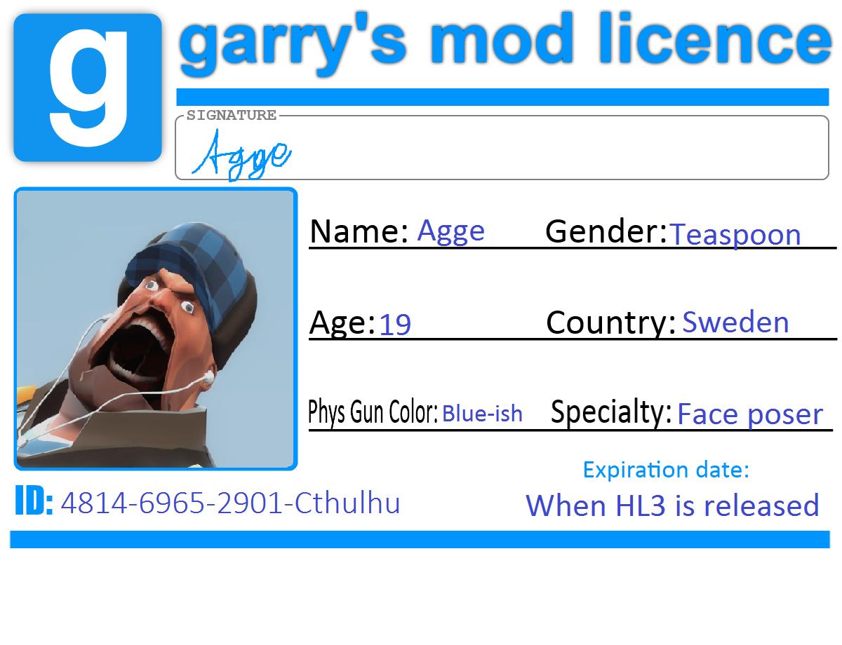 Gmod Licence by ATGF
