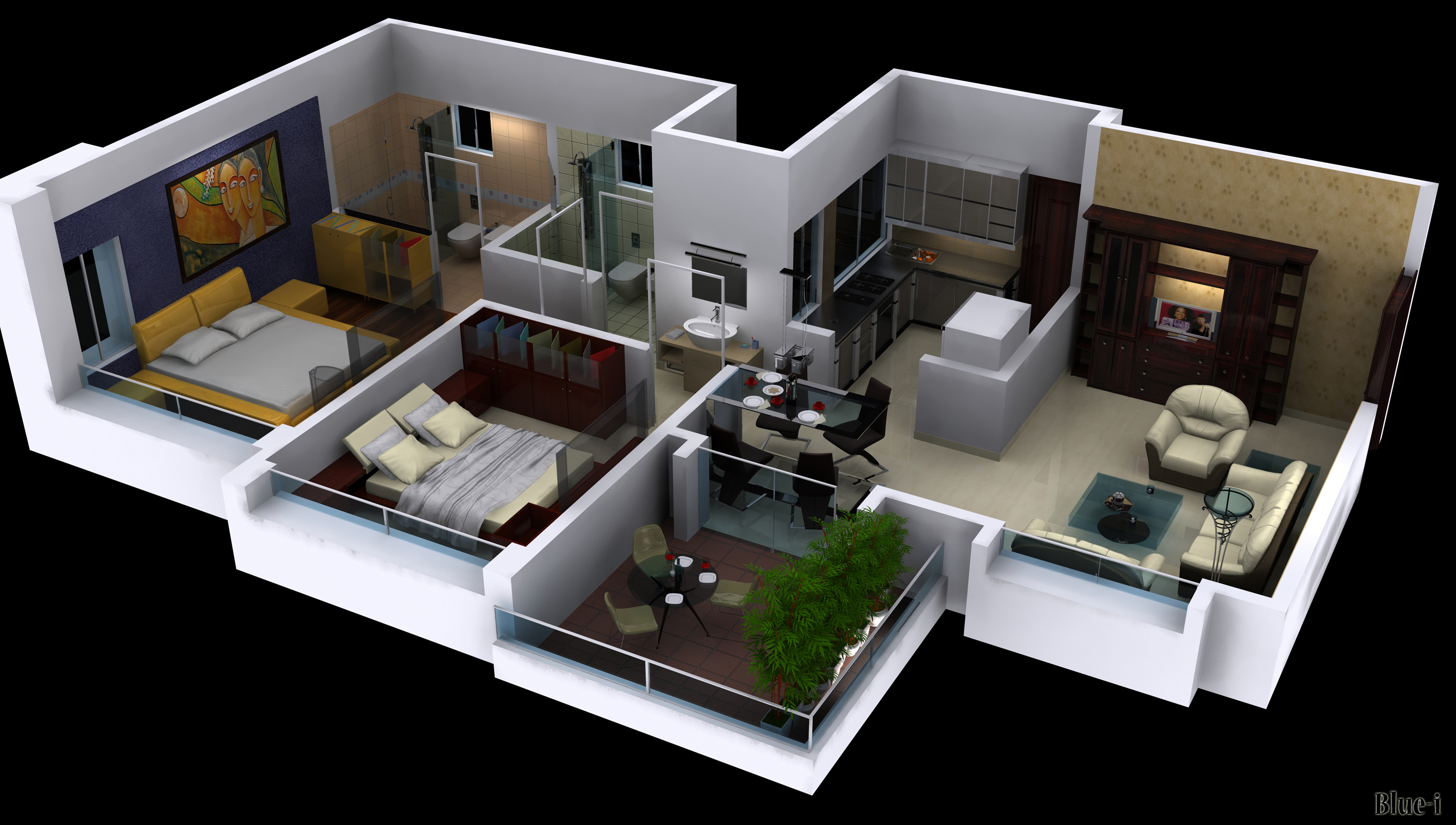 Cut View 2bhk By Psd0503 On Deviantart