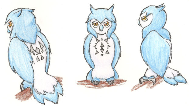 Fakemon Noctowl evo by DarkKitsunegirl