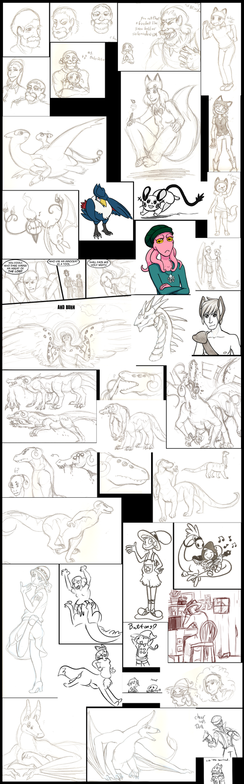 Sketchdump 1-29-14 by DarkKitsunegirl
