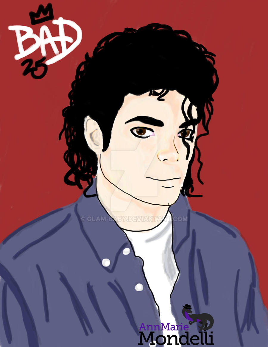 Bad 25 Portrait for Michael by Glam-Baby