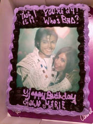 This Is It! You're 24! Who's Bad? Birthday Cake