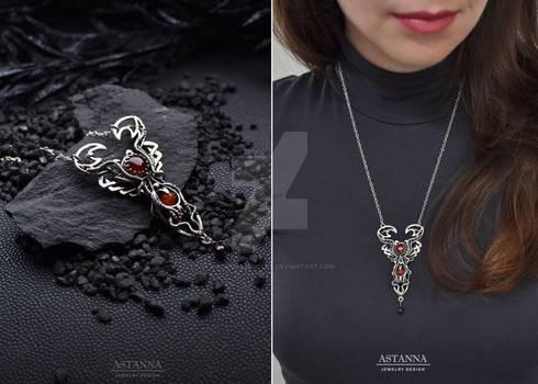 Scorpio necklace Scorpion Zodiac necklace