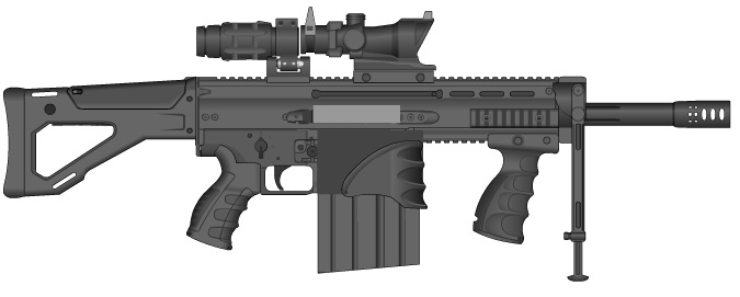 Assault Rifle 50 by GMG5000