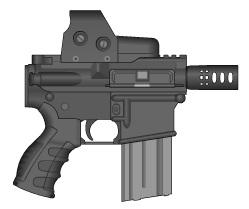 Pistol M-4 Rapid Fire by GMG5000