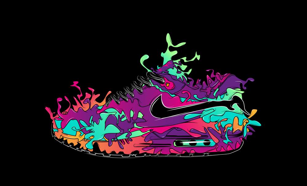 Black Splatter Shoe Graphics