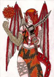 Fyria la dragonne de feu by Caledine
