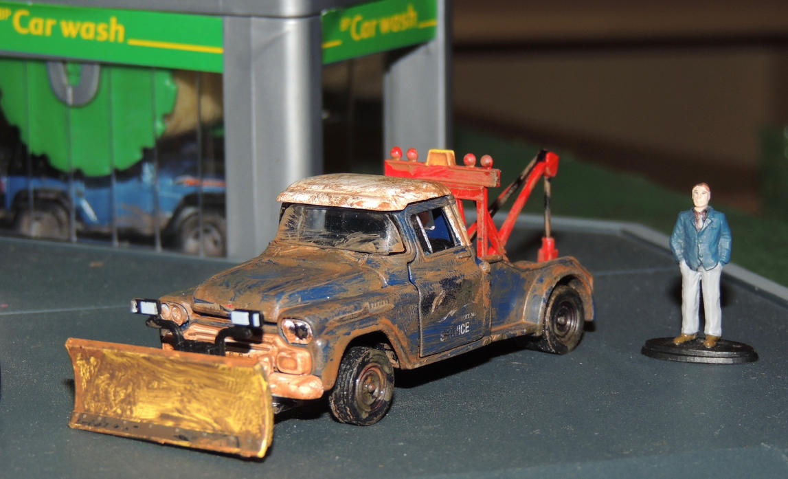 Weathered M2 Machines 1958 Chevy Tow Truck By Humloch On Deviantart