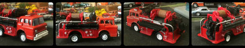 1/64 Scale Ford C600 Fire Truck by humloch