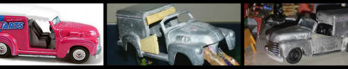 Custom Hot Wheels 1952 Chevy Ice Cream Truck WIP by humloch