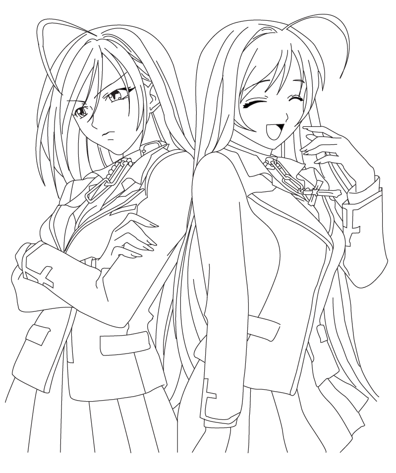 vampire anime coloring pages - photo#17
