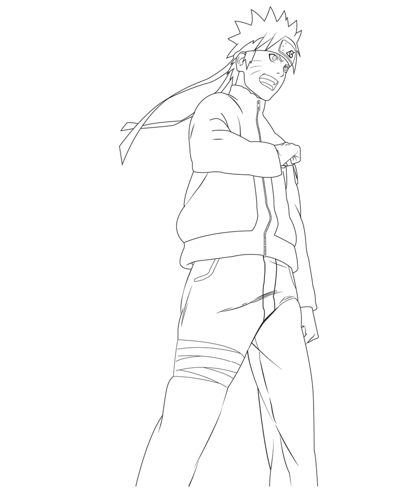 how to draw naruto sage mode full body