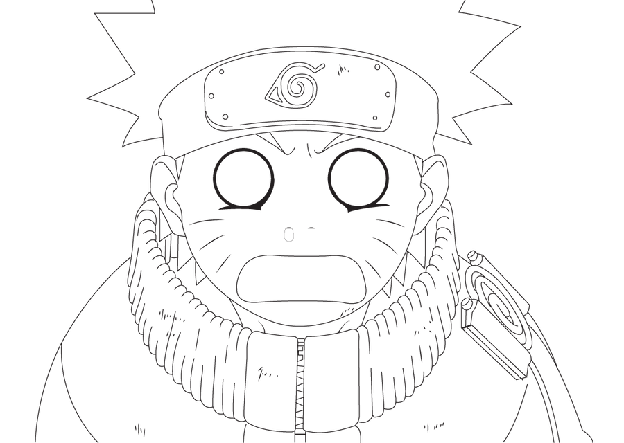 Naruto Gasp Line Art By SoraTheAvatar On DeviantArt