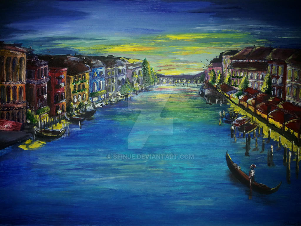 canal grande venice by SfinJe