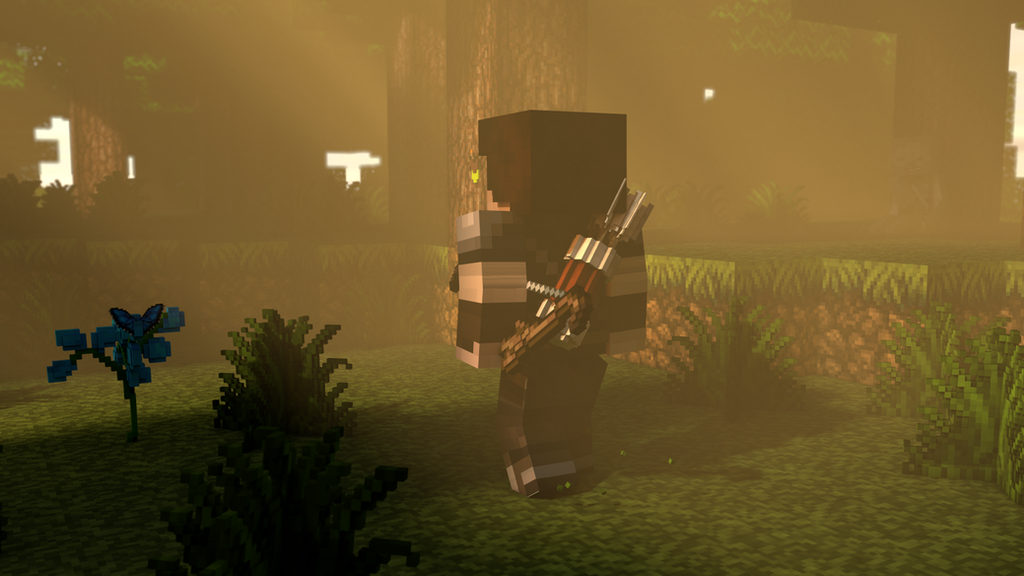 Fantastic Wallpaper Minecraft Art - wallpaper_minecraft_3d___the_archer_by_thefennixcreations-d7y0wqh  Image_988176.png