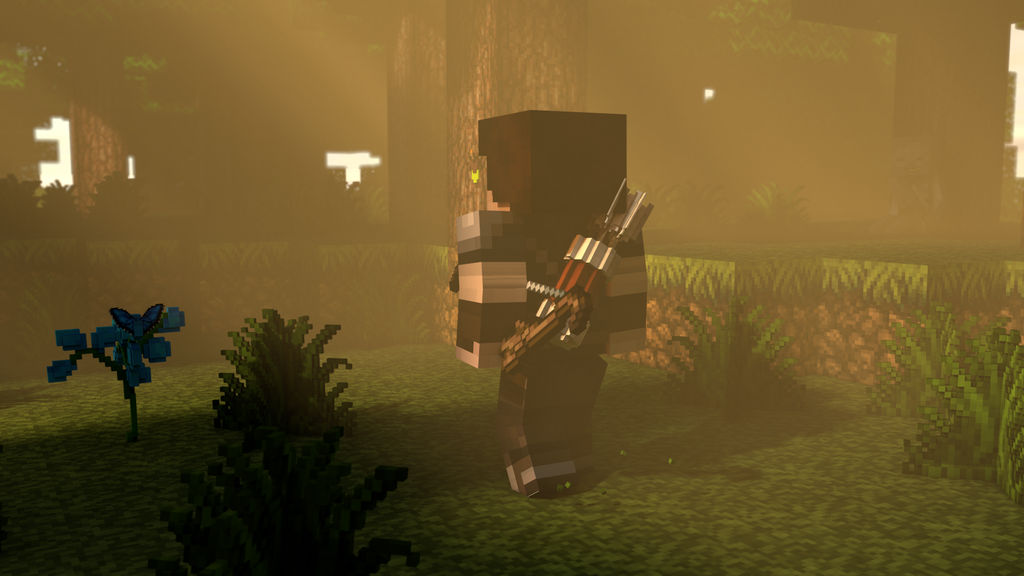 Wallpaper Minecraft 3d The Archer By Thefennixcreations On
