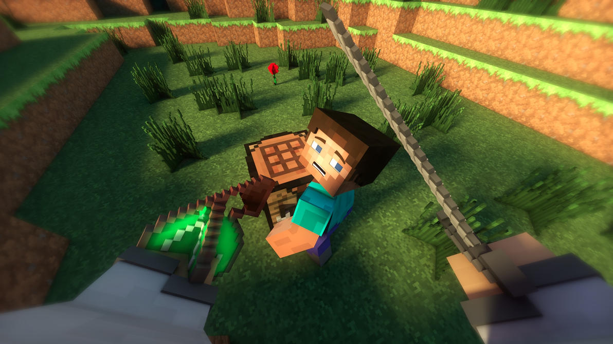 Wallpaper Minecraft 3D The Steves Kill By TheFennixCreations