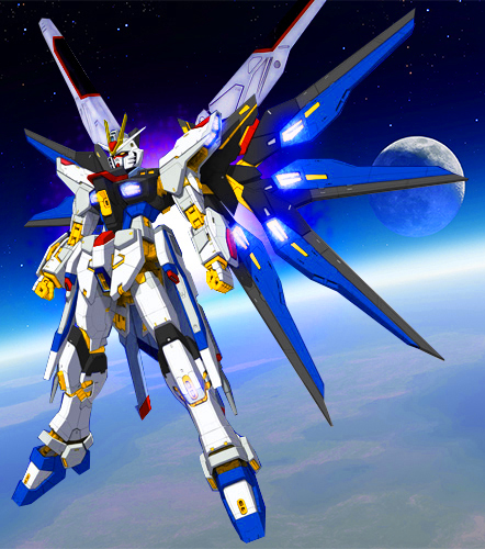The Strike Freedom Gundam (aka Strike Freedom, is a mobile suit that  appears in Mobile Suit Gundam SEED Destiny. The unit is piloted by Kira  Yamato.